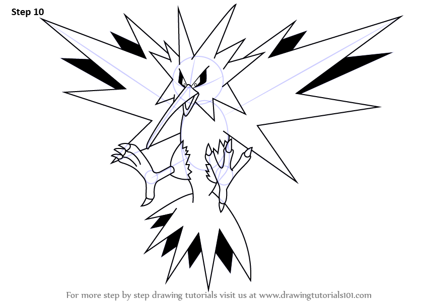 Learn How to Draw Zapdos from Pokemon
