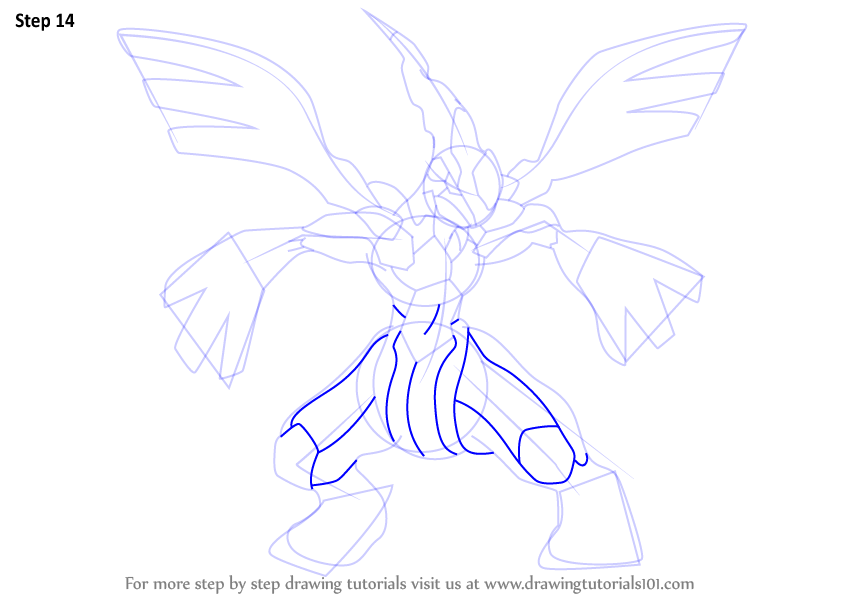 Step By Step How To Draw Zekrom From Pokemon