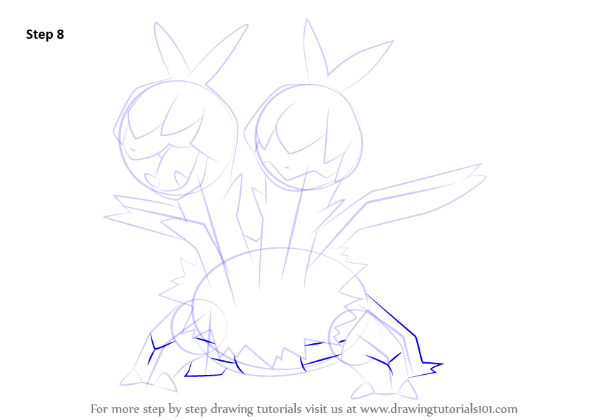 how to draw pokemon black and white step by step