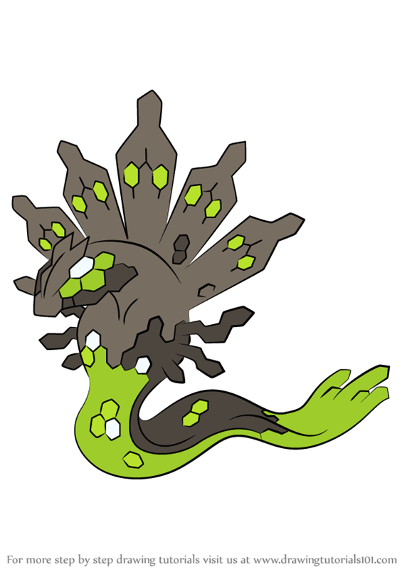 Learn How To Draw Zygarde From Pokemon Pokemon Step By