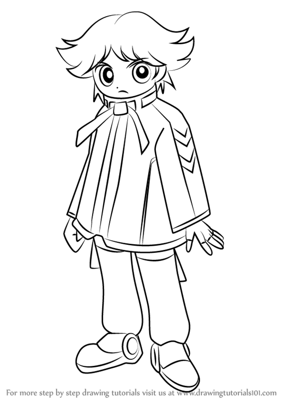 Step by Step How to Draw Boomer from Powerpuff Girls Z ...