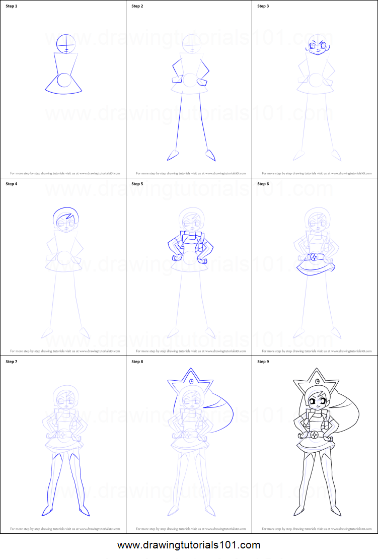 how to draw duchess morbucks from powerpuff girls z printable step