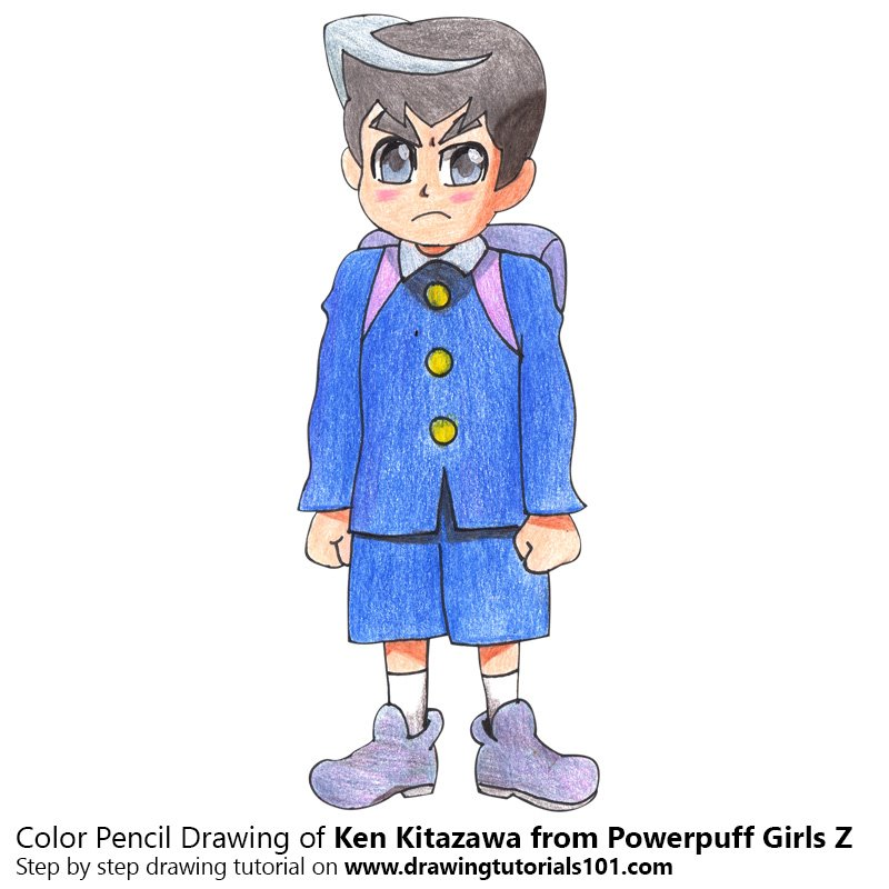 Ken Kitazawa from Powerpuff Girls Z Color Pencil Drawing