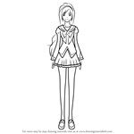 How to Draw Aono Miki from Pretty Cure