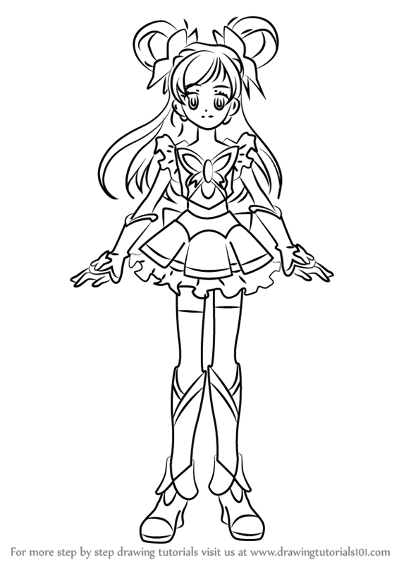 Learn How To Draw Cure Dream From Pretty Cure Pretty Cure