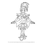How to Draw Cure Egret from Pretty Cure