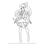 How to Draw Cure Fortune from Pretty Cure