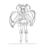 How to Draw Cure Happy from Pretty Cure