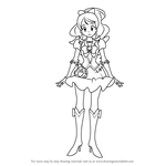 How to Draw Cure Honey from Pretty Cure