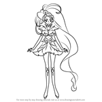 How to Draw Cure Mermaid from Pretty Cure