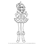 How to Draw Cure Pine from Pretty Cure