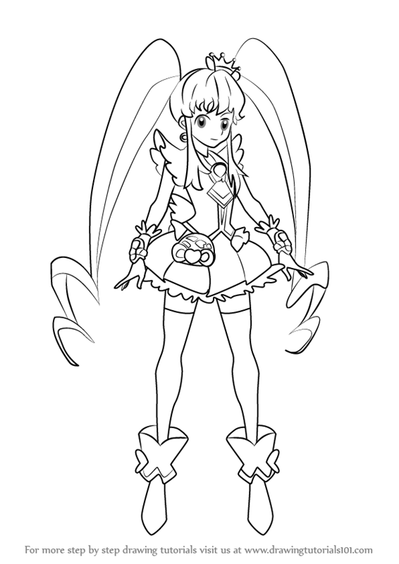 How to draw cure princess from pretty cure