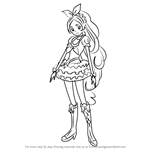 How to Draw Cure Rhythm from Pretty Cure