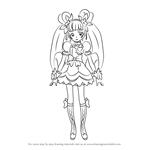 How to Draw Cure Rosetta from Pretty Cure