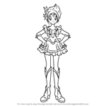 How to Draw Cure Rouge from Pretty Cure