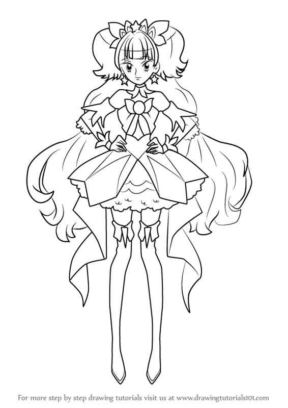 Step By Step How To Draw Cure Twinkle From Pretty Cure DrawingTutorials101