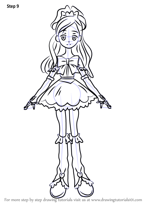 Learn How To Draw Cure White From Pretty Cure Pretty Cure