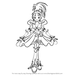 How to Draw Cure Windy from Pretty Cure