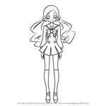 How to Draw Hanasaki Tsubomi from Pretty Cure