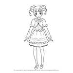 How to Draw Yotsuba Alice from Pretty Cure