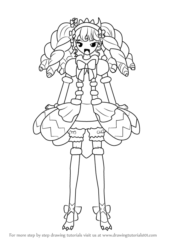 Learn How To Draw Gaaruru From Pripara Pripara Step By