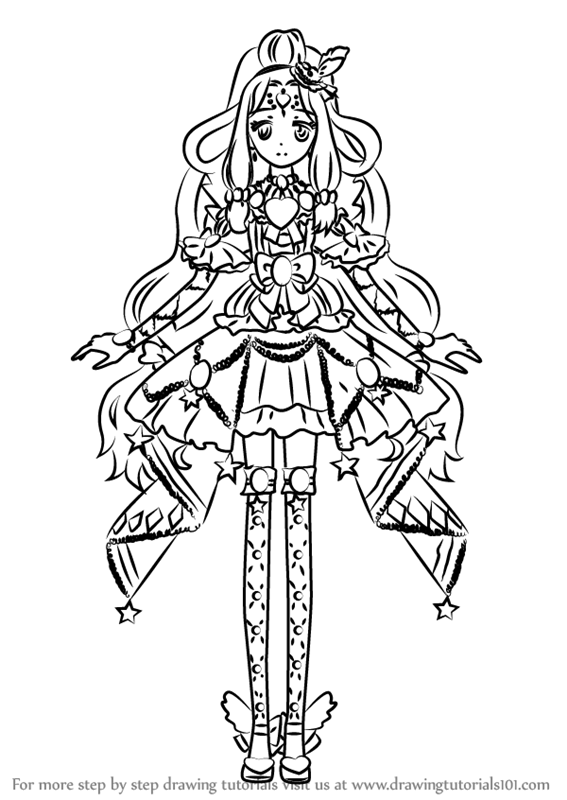 Learn How To Draw Jewlie From Pripara Pripara Step By