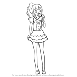 How to Draw Nanami Shirai from PriPara
