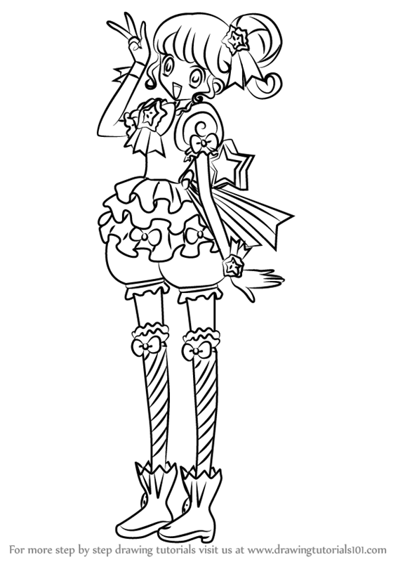 Learn How To Draw Pinon From Pripara Pripara Step By