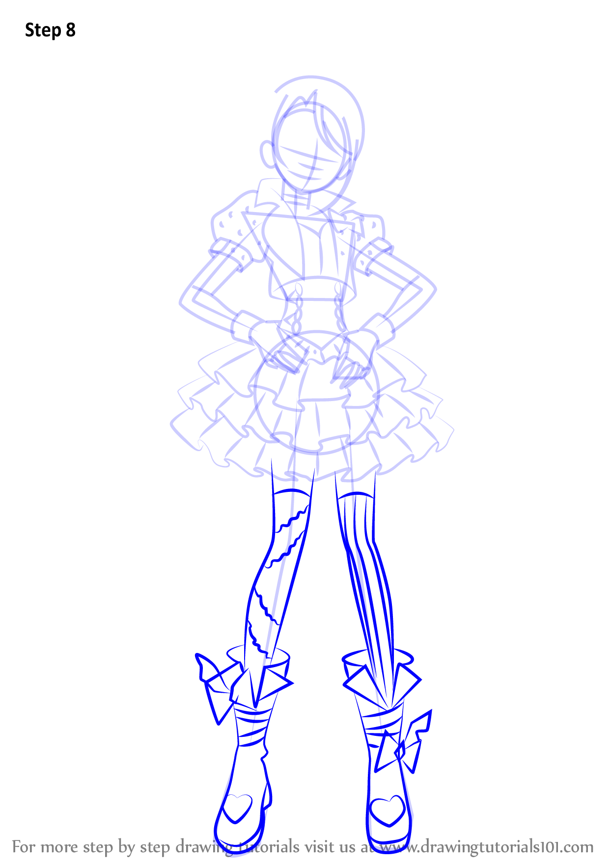 Learn How To Draw Shion Todo From PriPara (PriPara) Step ...