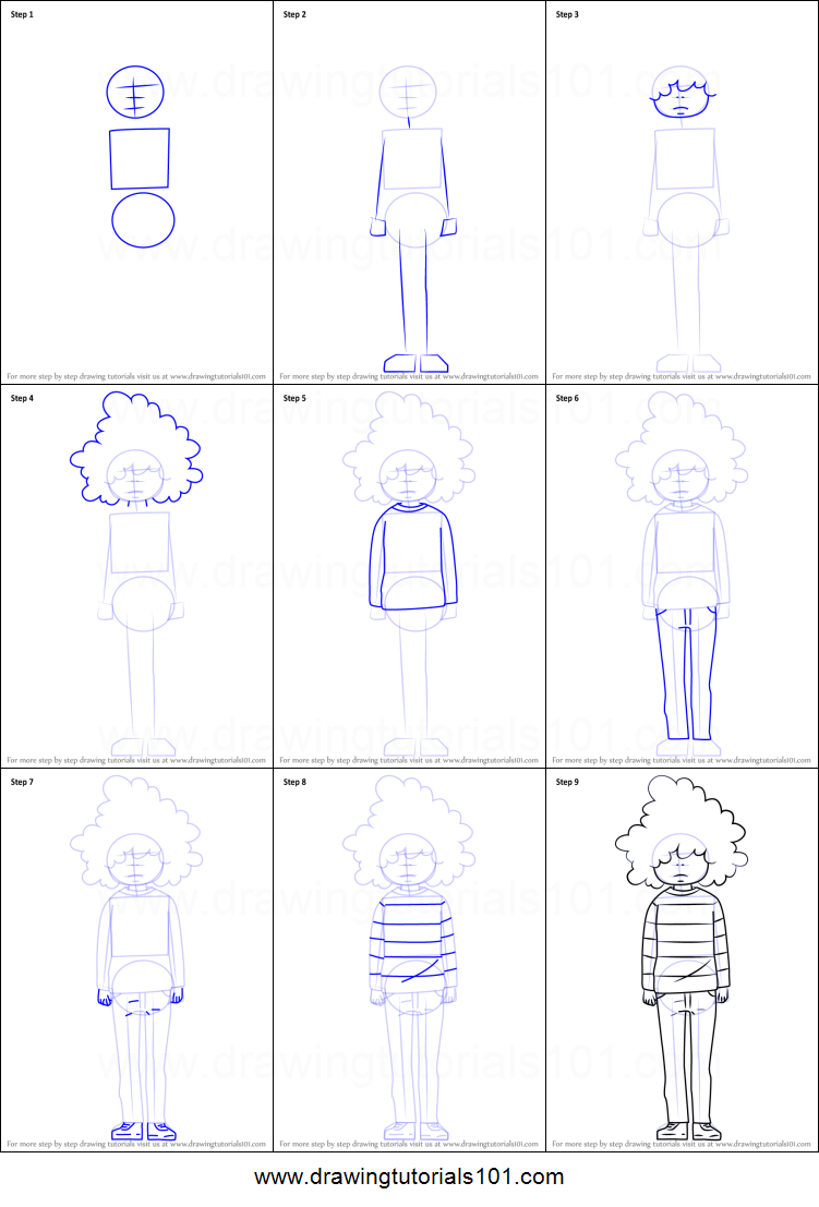 how to draw banba from princess jellyfish printable step by step drawing sheet drawingtutorials101com