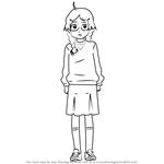 How to Draw Tsukimi Kurashita from Princess Jellyfish