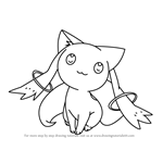 How to Draw Kyubey from Puella Magi Madoka Magica