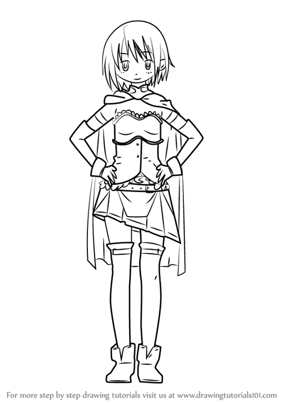 Learn How to Draw Sayaka Miki from