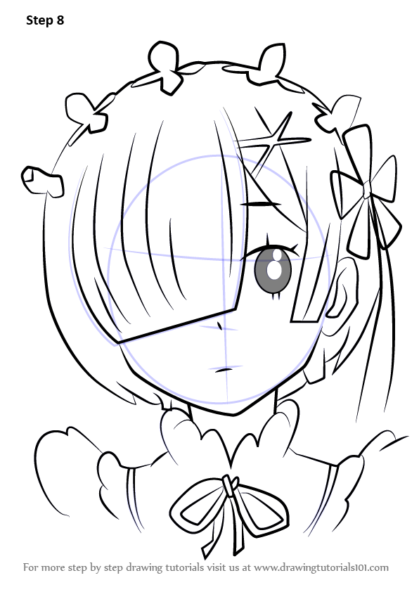 Step by Step How to Draw Rem from