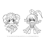 How to Draw Pani and Gil from Rewrite