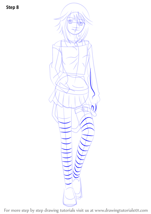 Step By Step How To Draw Mizore Shirayuki From Rosario