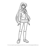How to Draw Moka Akashiya from Rosario + Vampire