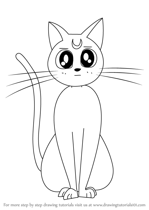 learn how to draw artemis from sailor moon sailor moon