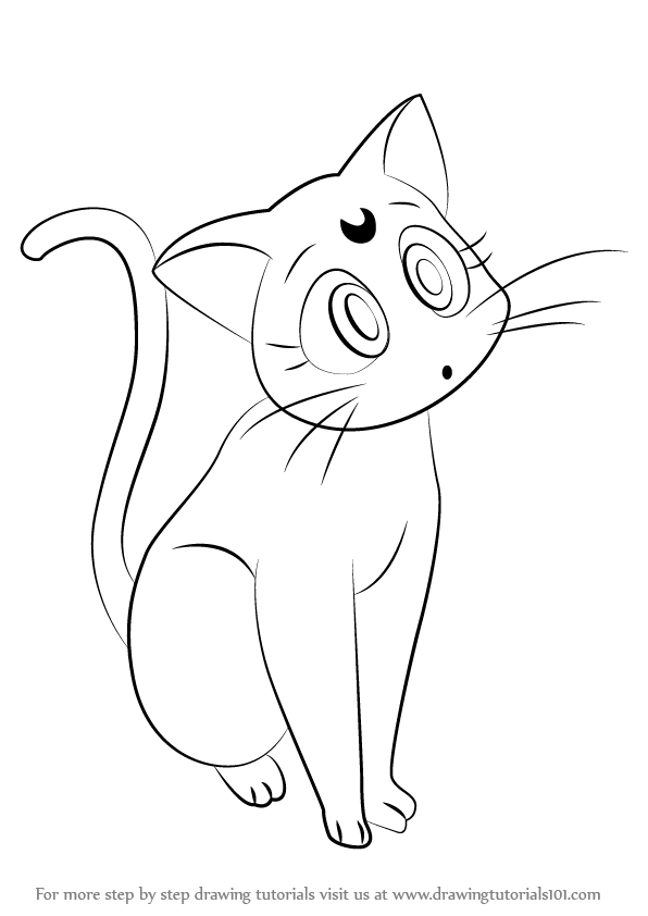 Learn How to Draw Luna from Sailor Moon (Sailor Moon) Step by Step ...