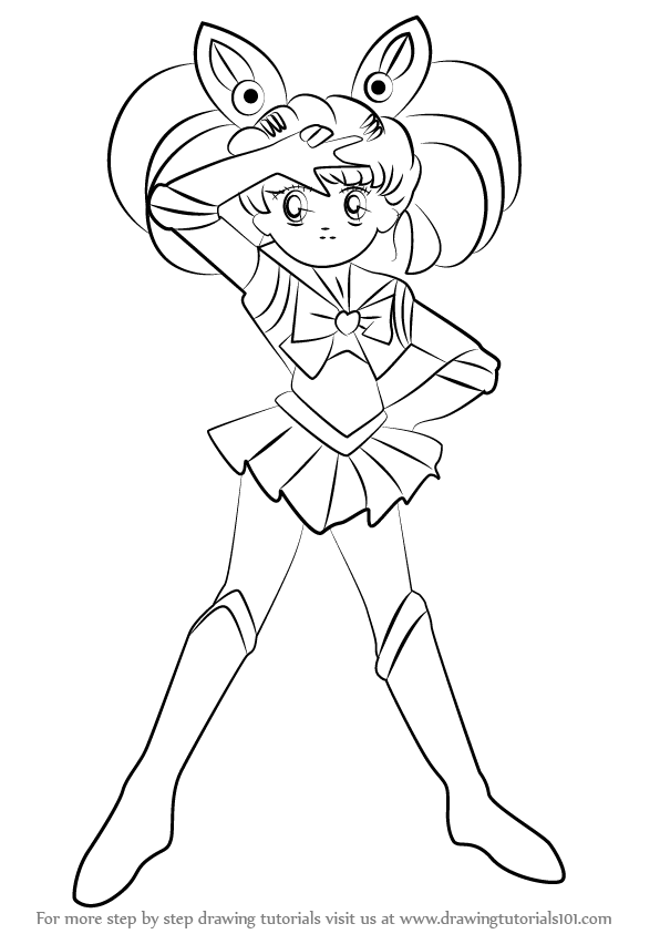 Learn How to Draw Sailor Chibi Moon from Sailor Moon