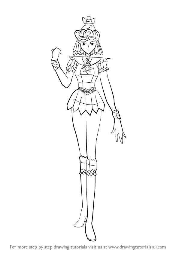 Learn How To Draw Sailor Galaxia From Sailor Moon Sailor Moon Step