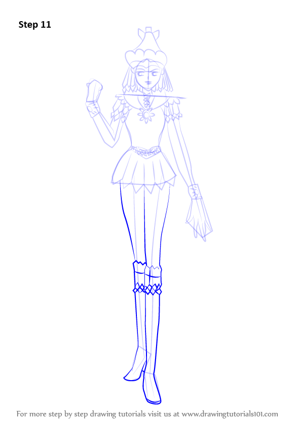 Learn How to Draw Sailor Galaxia from Sailor Moon (Sailor Moon) Step