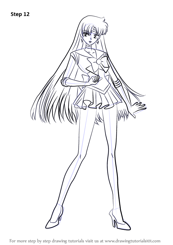 Learn How To Draw Sailor Mars From Sailor Moon Sailor