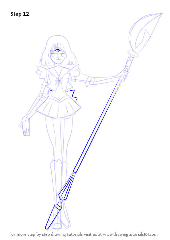 Learn How To Draw Sailor Saturn From Sailor Moon Sailor