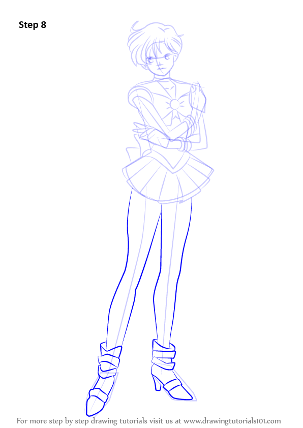 learn how to draw sailor uranus from sailor moon sailor