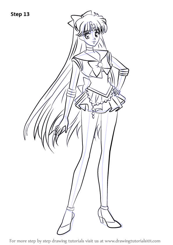 Learn How To Draw Sailor Venus From Sailor Moon Sailor