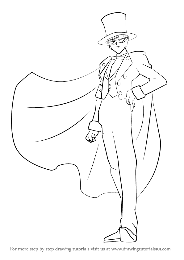 Learn How To Draw Tuxedo Mask From Sailor Moon Sailor Moon Step By