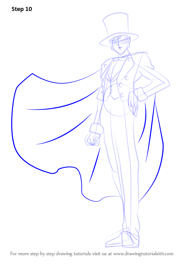 learn how to draw tuxedo mask from sailor moon  sailor
