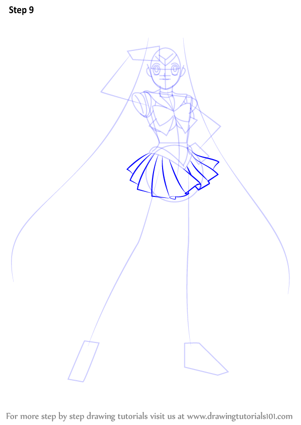 Step By Step How To Draw Sailor Moon Drawingtutorials101 Com
