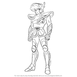 How to Draw Pegasus Seiya from Saint Seiya